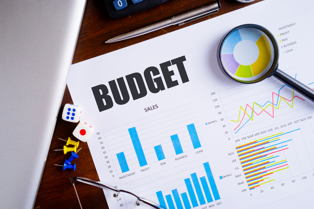 Photo of budget with graphs